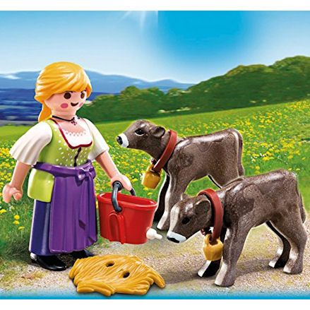 Playmobil 4778 Country Woman, playing