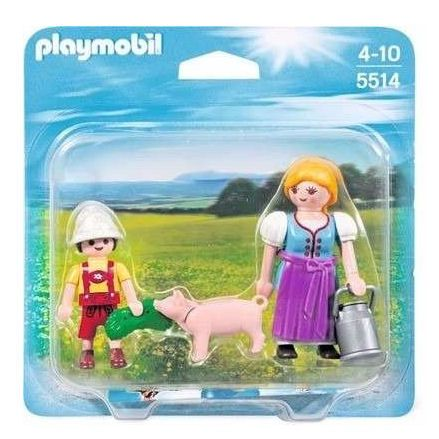 Playmobil 5514 Country Farm Woman and Boy