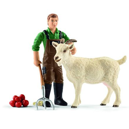 Schleich 42375 Farmer with Goat