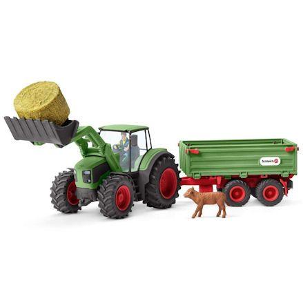 Schleich 42379 Tractor, Front Loader & Trailer