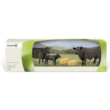 Schleich Angus cattle in box set