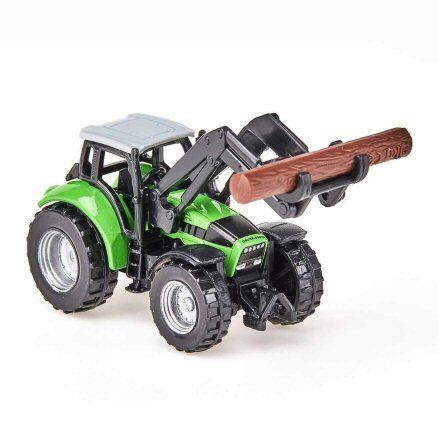 Siku 1380 Deutz Fahr Agrotron TTV Forestry Tractor, loader