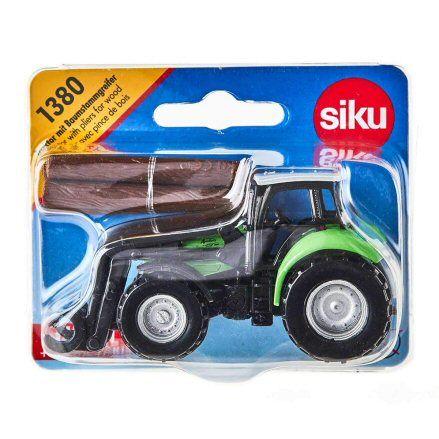 Siku 1380 Deutz Fahr Agrotron TTV Forestry Tractor, packet