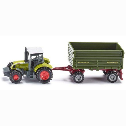 Siku 1634 Claas Ares ATZ 697 Tractor, Fortuna Trailer