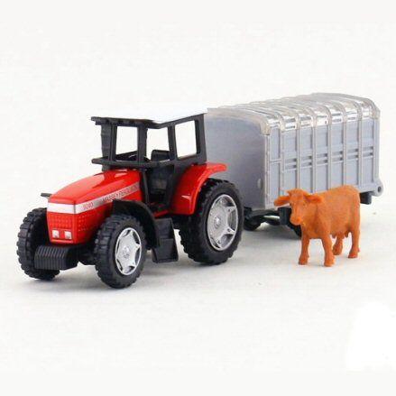 Siku 1640 Massey Ferguson 9240 Tractor, left side view