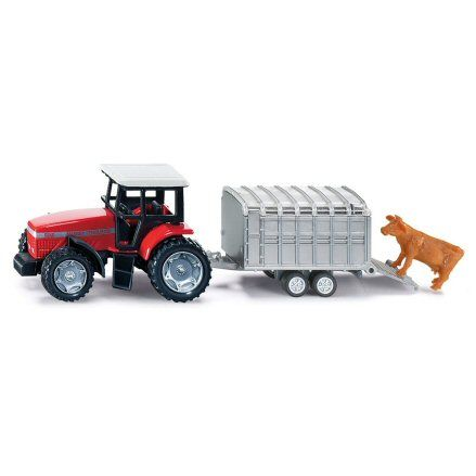 Siku 1640 Massey Ferguson Tractor, Cattle Trailer