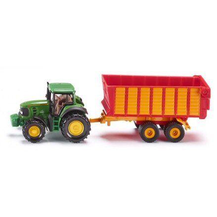 Siku 1650 John Deere Tractor, Silage Trailer