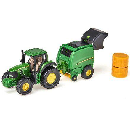 Siku 1665 John Deere 7530 Tractor, open tailgate