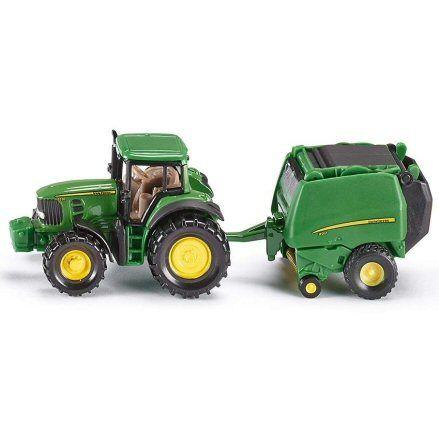 Siku 1665 John Deere 7530 Tractor, 990 Baler