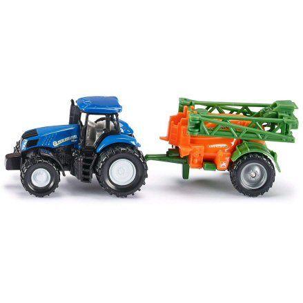Siku 1668 New Holland T8.390 Tractor, Amazone UX 5300 Crop Sprayer