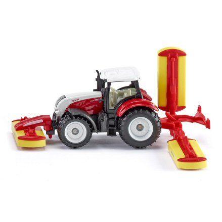 Siku 1672 Steyr CVT 6230 Tractor, Pottinger Combination Mower