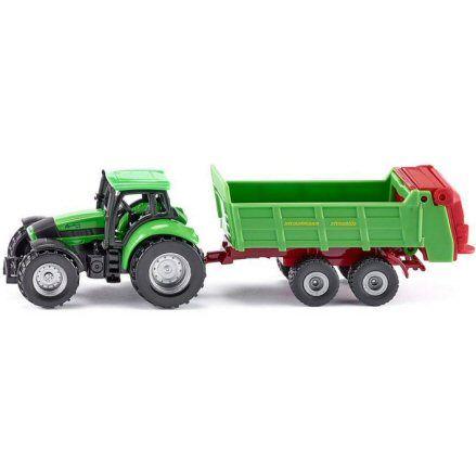 Siku 1673 Deutz Fahr Agrotron 265 Tractor, Straumann Streublitz Spreader