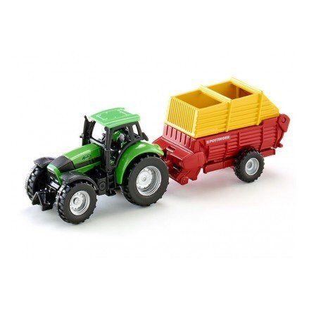 Siku 1676 Deutz Fahr Agrotron 256 Tractor, angle view