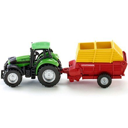 Siku 1676: Deutz Fahr Agrotron 256 Tractor, Pottinger Loader Wagon