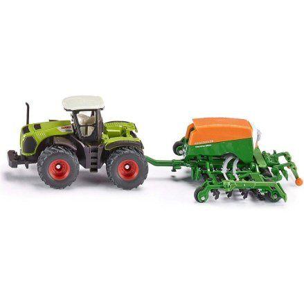 Siku 1826 Claas Xerion 5000 Tractor, Amazone Cayena 6001 Seeder