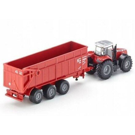 Siku 1844 Massey Ferguson 8480 Tractor, right side view