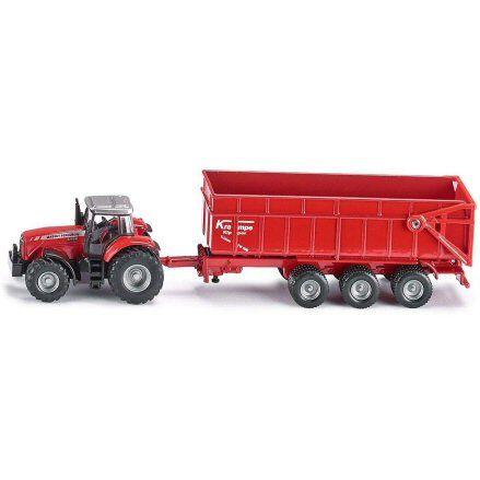 Siku 1844 Massey Ferguson 8480 Tractor, Krampe Trailer
