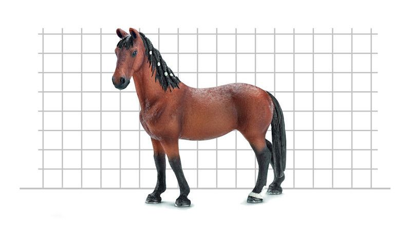 What scale are Schleich horses diagram